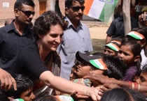 Priyanka Gandhi Vadra in Rae Bareli rally