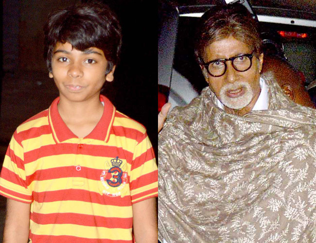 Parth Bhalerao and Amitabh Bachchan