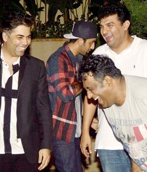 Karan Johar, Ranbir Kapoor, Siddharth Roy Kapur, Anurag Basu