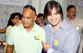 Vivek Oberoi and Vinod Kambli