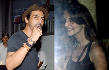 Arjun Rampal with Sussanne Roshan