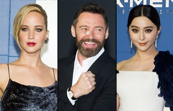 Jennifer Lawrence, Hugh Jackman and Fan Bingbing