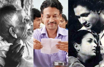 Collage of Pather Panchali and The Lunchbox