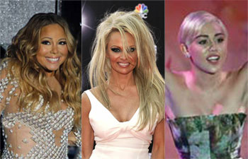 Collage of celebs