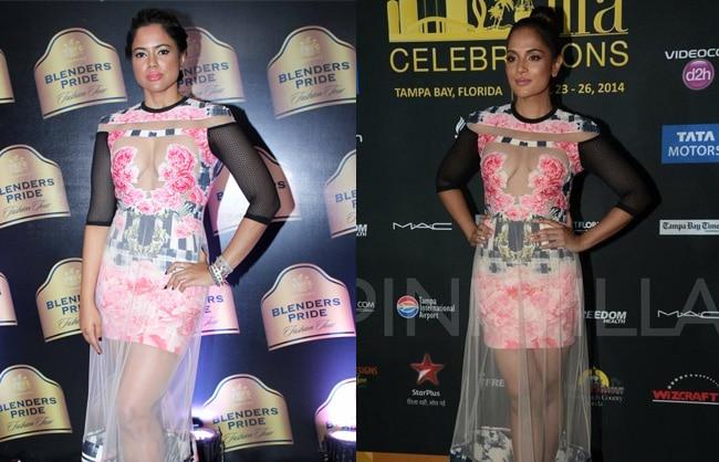 Richa Chadda copies Sameera Reddy's fashion sense.