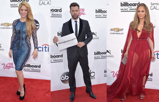 Shakira, Ricky Martin and Jennifer Lopez