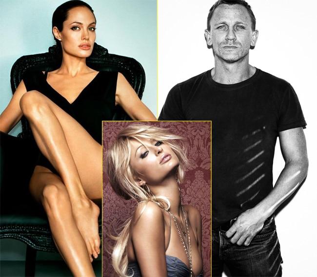 Ranveer Singh, Daniel Craig, Charlie Sheen, David Duchovny, Michael Douglas, Lindsay Lohan, Angelina Jolie, Russell Brand, Paris Hilton