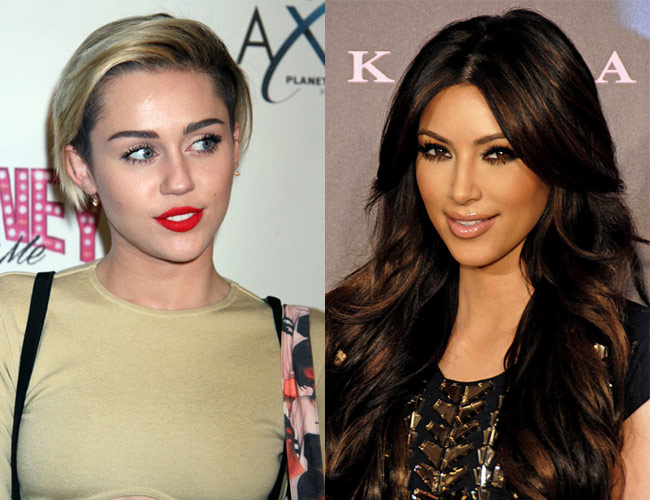 Kim Kardashian and Miley Cyrus