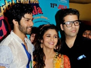 Varun, Alia and KJo goof around in Humpty Sharma Ki Dulhaniya's first look launch