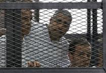al jazeera, egypt, al jazeera journalists convicted, al jazeera journalists jailed for 7 years in egypt, muslim brotherhood, egypt court