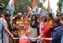 Mahila Congress protest
