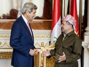 John Kerry in talks with Kurdish leader Barzani