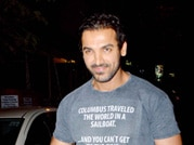 Fit and fab John Abraham's night out!