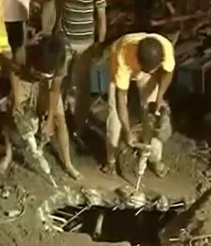 Building collapse in Chennai