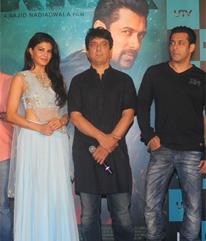 Salman Khan with the cast and crew of Kick