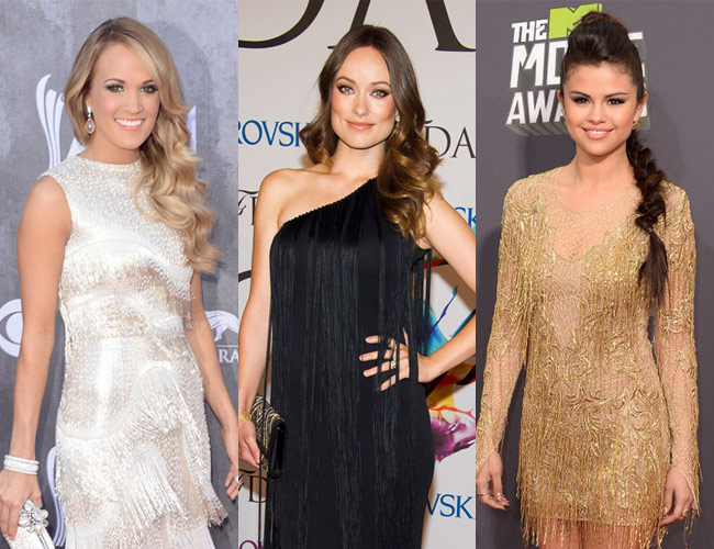Carrie Underwood, Olivia Wilde and Selena Gomez