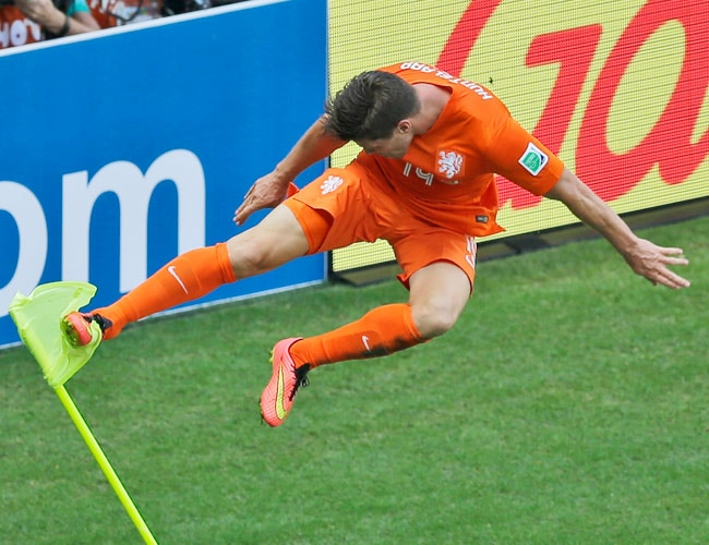 Netherlands' Klaas-Jan Huntelaar