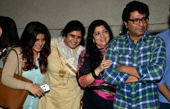 Raj Thackeray and family