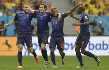 Netherlands' players