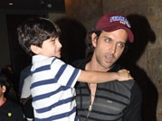 Is Hrithik Roshan trying hard to be the perfect dad?