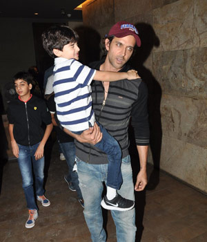 Hrithik Roshan with his sons