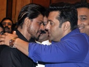 Photos: Shah Rukh, Salman Khan hug again