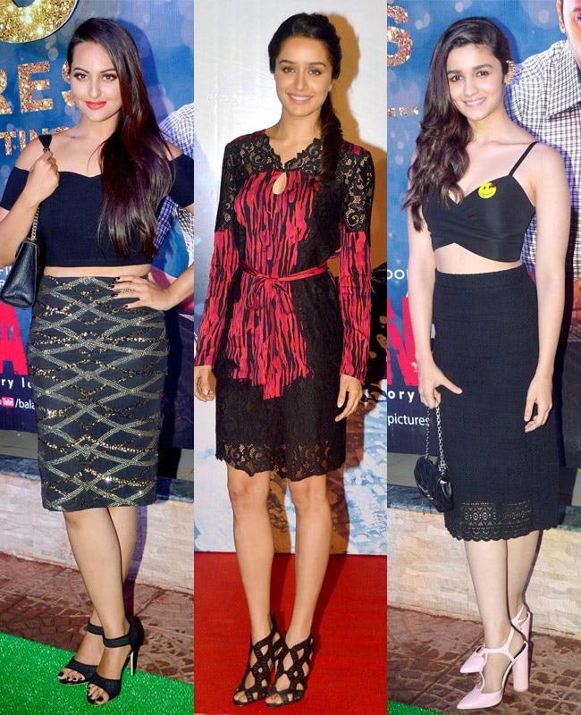 Sonakshi Sinha, Shraddha Kapoor, Alia Bhatt