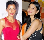 Mughda Godse and Shruti Haasan