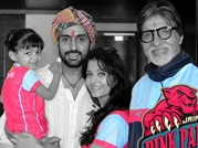 Pro Kabaddi League: Bachchan clan celebrate Pink Panthers' victory in Jaipur
