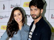 Shahid, Shraddha step out for Haider promotions