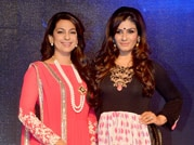 Raveena, Juhi have fun while launching TV channel