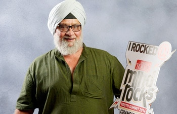 Bishan Singh Bedi at the India Today Mind Rocks Youth Summit 2014 being held in Chandigarh.