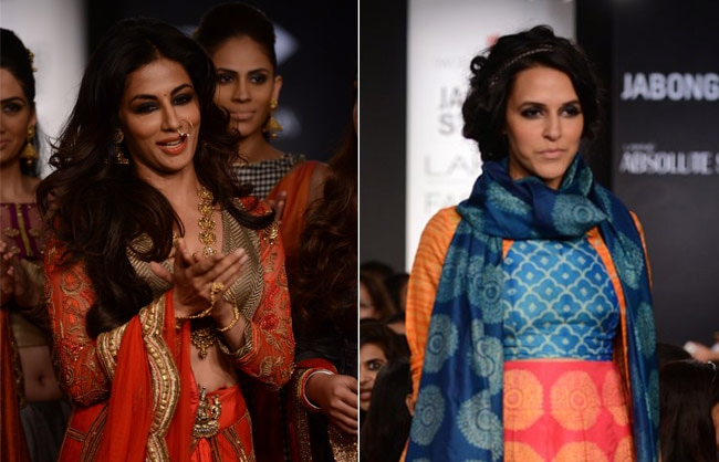 Chitrangada Singh and Neha Dhupia