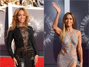 Plunging neckline, thigh high slits on MTV VMAs red carpet