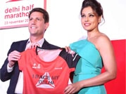 Bipasha launches half marathon while Parineeti unveils product range