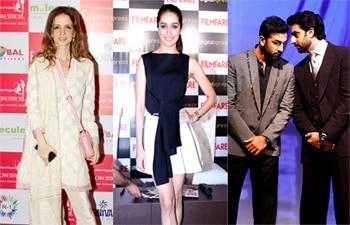 Sussanne Roshan, Shraddha Kapoor, Ranbir Kapoor, Abhishek Bachchan