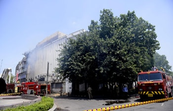 Fire at Connaught Place building