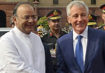 Chuck Hagel is on his maiden trip to India as defence secretary, and comes less than a week after the visit of Secretary of State John Kerry and Commerce Secretary Penny Pritzeker.