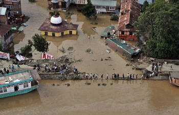 Around 20,000 houses have been partially or completely damaged while about 2,500 livestock have been perished in the worst floods in Jammu and Kashmir region in decades.