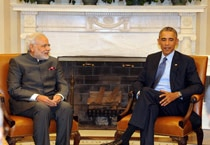 In pics: Modi in talks with Obama at White House
