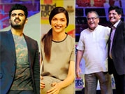 Arjun Kapoor, Deepika Padukone, Aroon Purie and Piyush Goyal