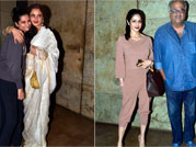 Rekha, Sridevi attend Khoobsurat special screening