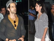 Celeb sightings: Hrithik and Katrina spotted at Mumbai airport
