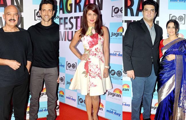 Rakesh Roshan, Hrithik Roshan, Priyanka Chopra, Siddharth Roy Kapur, Vidya Balan