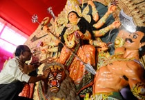 In pics: Preparations on for Durga puja