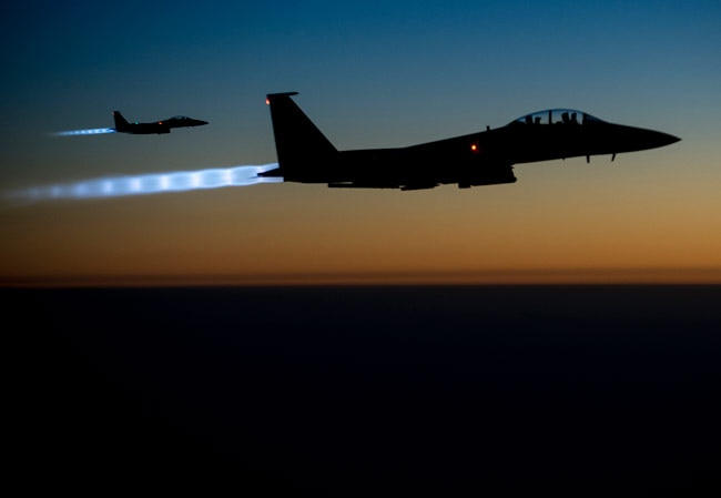 US, British fighter jets pound ISIS bases in Syria