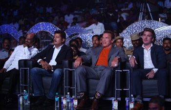 Arnold Schwarzenegger at Tamil film Ai's music launch
