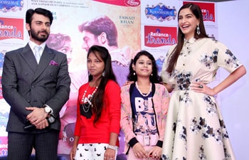 sonam kapoor, fawad khan, khoobsurat, make a wish foundation