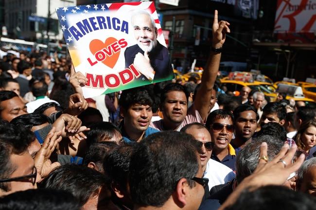 Supporters of Prime Minister Narendra Modi