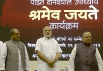 Prime Minister Narendra Modi on Thursday launched labour-reform initiatives under the name of Pandit Deendayal Upadhyay Shramev Jayate scheme.